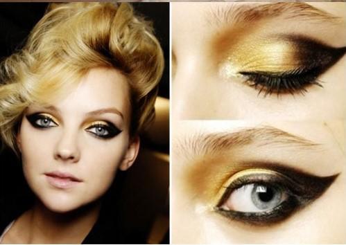 化妆学校教你打造金色眼妆 彰显高贵