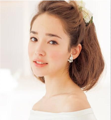 最新中长发新娘发型 尽显新娘唯美气质