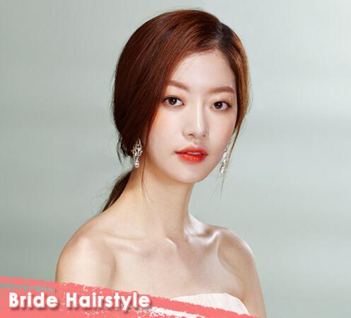 很新斜刘海新娘发型推荐 演绎完美气质新娘