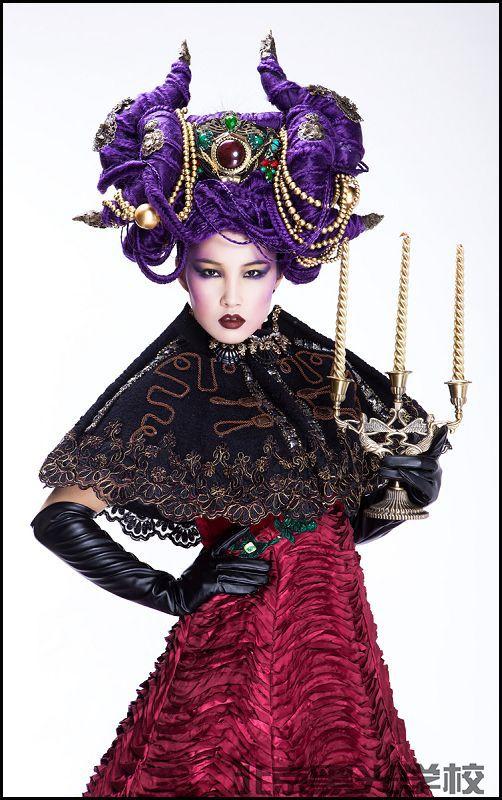 黑光教育国际化妆师首席班 毕业秀场4