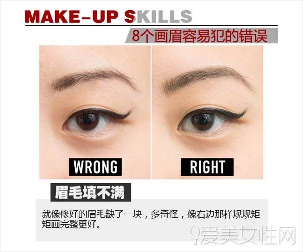 怎么避开画眉错误